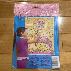 FREE Pin the Tail Party Game Princess NWT